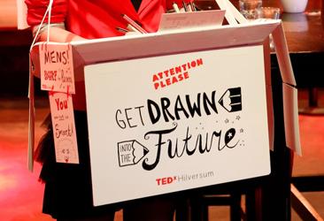 Live tekenen tijdens TEDx Hilversum