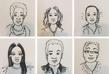 Bedankmiddag: live portretjes tekenen